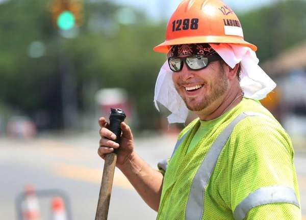 Construction worker Carmine Notaro, of Shirley, drank lots