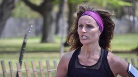 Melissa Oliverio-Gilbert of Rockville Centre near the finish