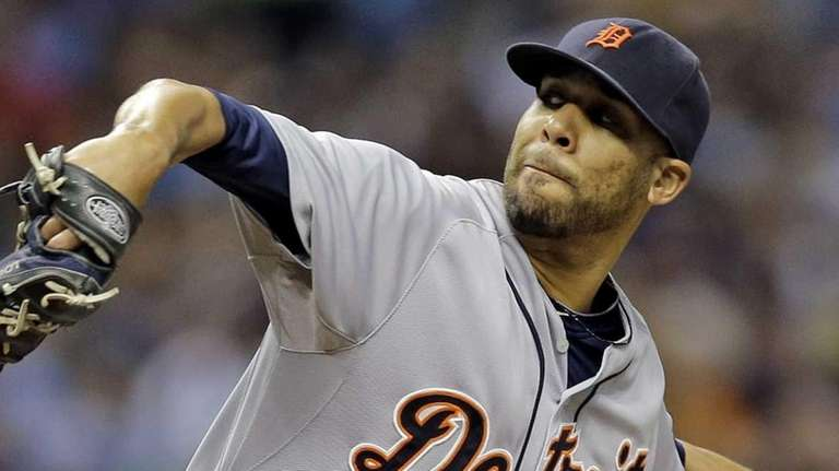 The Detroit Tigers' David Price goes into his