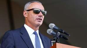 MLB commissioner Rob Manfred speaks during the Hall