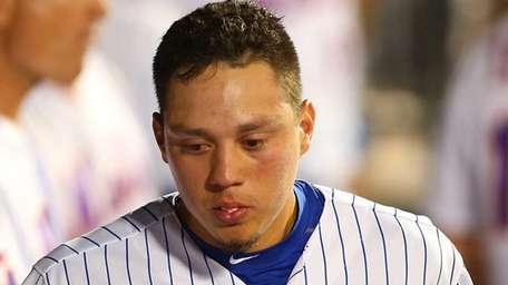 Wilmer Flores of the New York Mets in