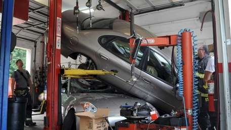 A freak accident ended without injury Thursday, July