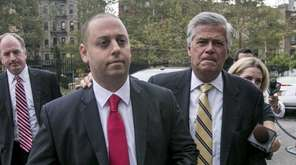 Former State Senate Leader Dean Skelos (right) and