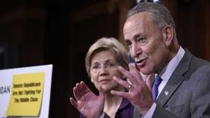 U.S. Sen. Charles Schumer, with Massachusetts Sen. Elizabeth