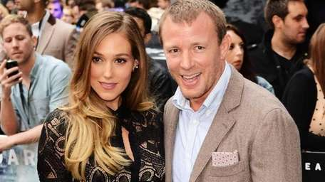 Filmmaker and Madonna's ex-husband Guy Ritchie and model