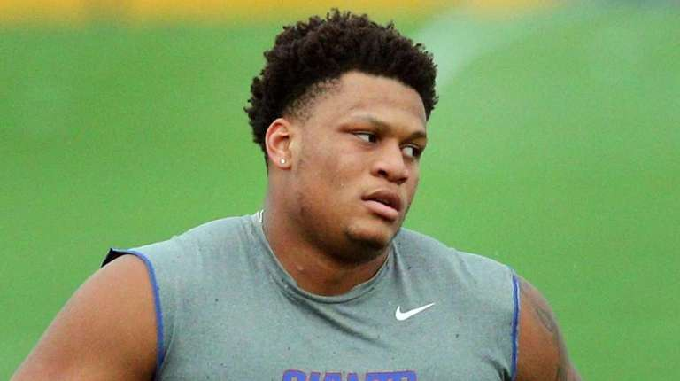 New York Giants rookie tackle and first-round draft