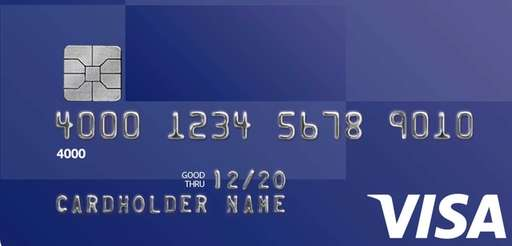 A Visa version of the EMV credit card