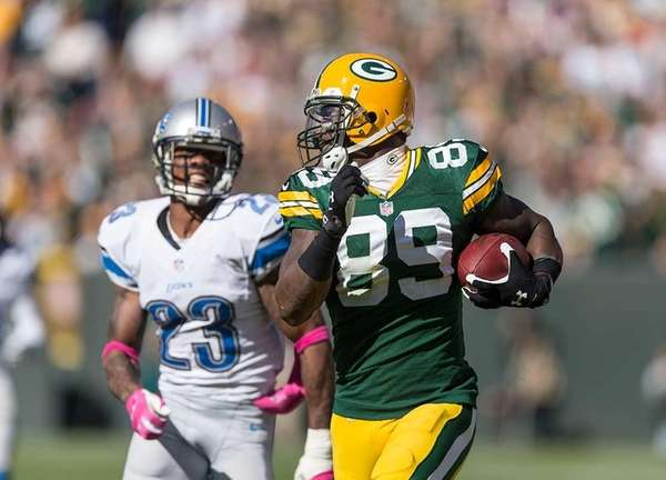 James Jones of the Green Bay Packers out