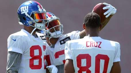 Giants wide receivers Rueben Randle and Odell Beckham