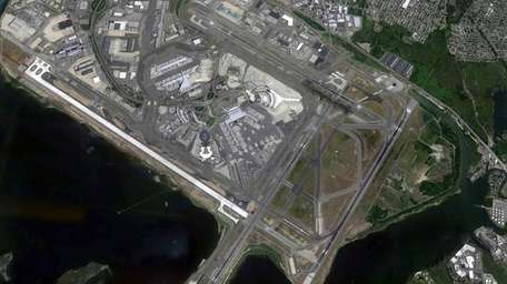 Kennedy Airport in Queens is seen in this