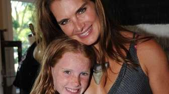 Brooke Shields with daughter Grier Henchy at Shields'