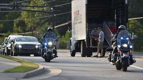 A general view of Bobbi Kristina Brown Funeral