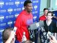 New York Giants wide receiver James Jones speaks