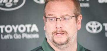 New York Jets general manager Mike Maccagnan speaks