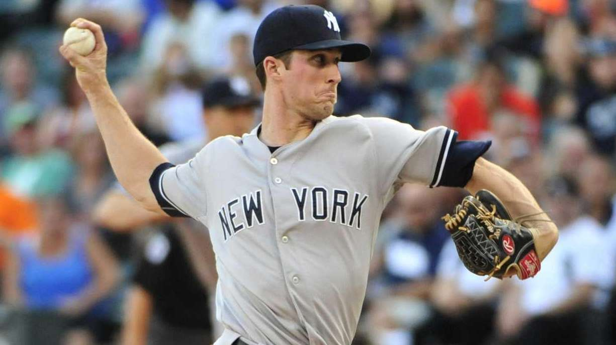 Bryan Mitchell of the New York Yankees pitches