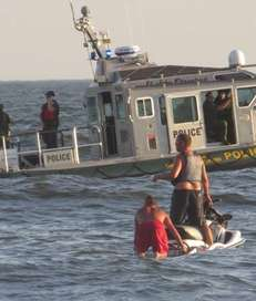 The Long Beach Lifeguards, Fire Dept and Police