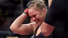 Ronda Rousey of the United States defeats Bethe