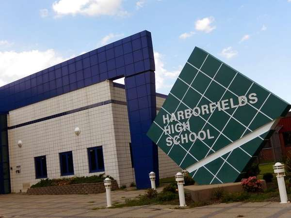 Harborfields High School in Greenlawn is shown on