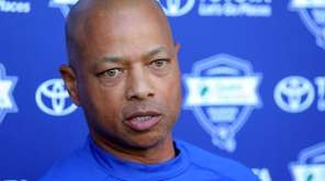 New York Giants general manager Jerry Reese speaks
