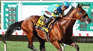American Pharoah, with Victor Espinoza riding, won the