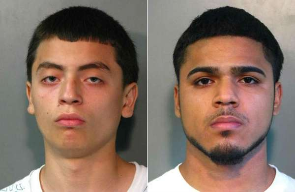 David Jimenez, 17, of College Point, Queens, left,