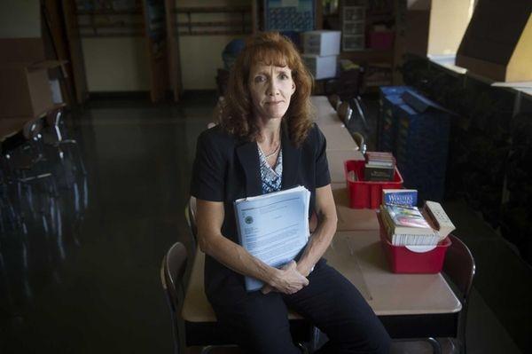 George McVey Elementary School Principal Kerry Dunne is