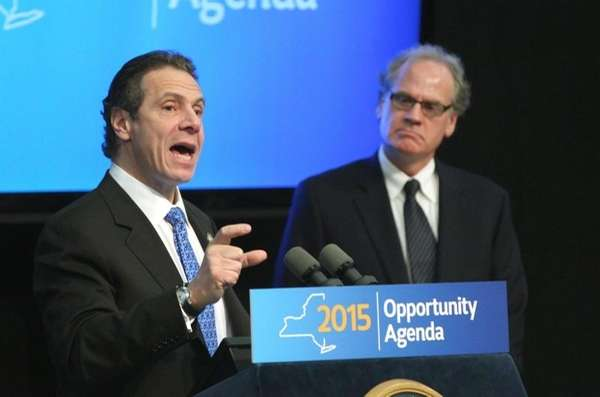 Gov. Andrew M. Cuomo with Howard Zemsky, president