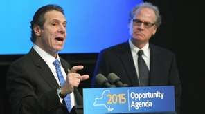 Gov. Andrew M. Cuomo with Howard Zemsky, president