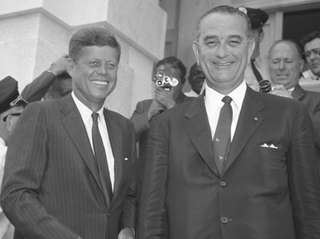 President John Fitzgerald Kennedy and Vice President Lyndon