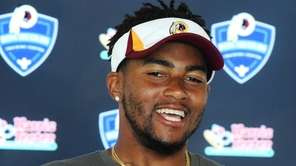Washington Redskins wide receiver DeSean Jackson addresses members