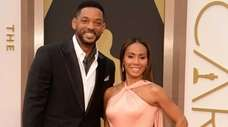 Actors Will Smith (left) and Jada Pinkett Smith