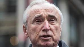 New York Police Department Commissioner Bill Bratton speaks