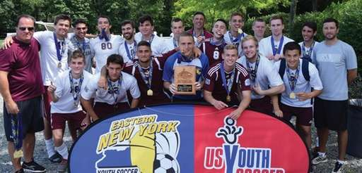 Massapequa Arsenal's U-19 championship team,Back row, left to