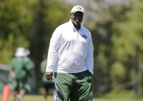 New York Jets head coach Todd Bowles smiles