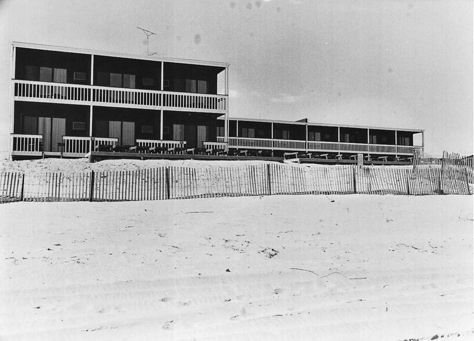 The Ocean Surf Motel on the beach in