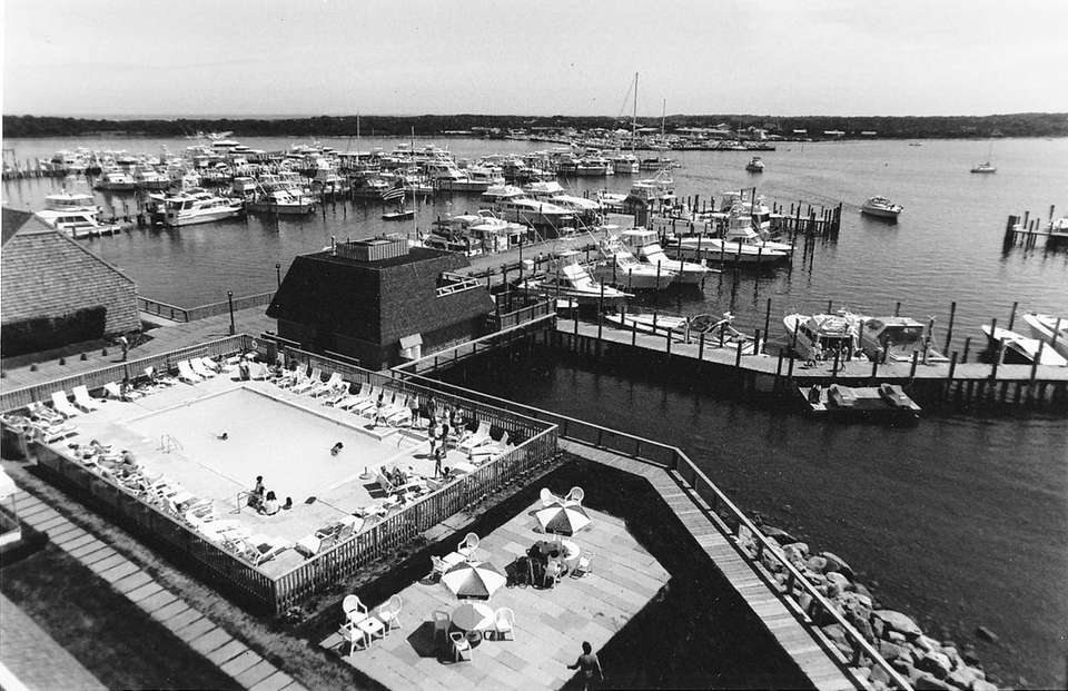 A view of the Montauk Yacht Club marina
