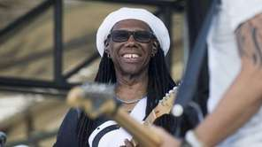 Nile Rodgers shares a laugh with fellow musicians