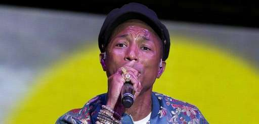 Pharrell Williams performs on stage at the FOLD