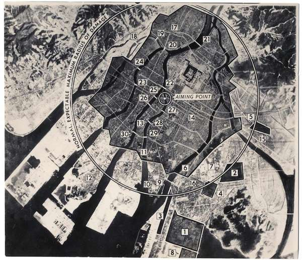 This reconnaissance photo from 1945 provided by the
