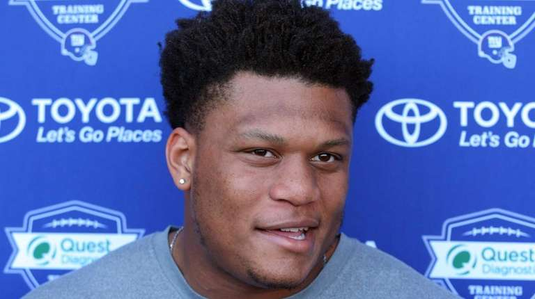 New York Giants tackle Ereck Flowers speaks to