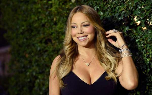 Mariah Carey, pictured arriving at the Crown Media