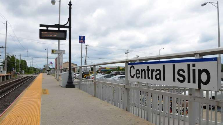 The Central Islip LIRR station.