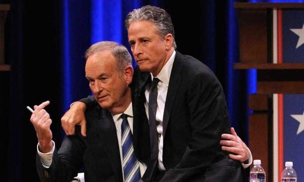 Bill O'Reilly and Jon Stewart at