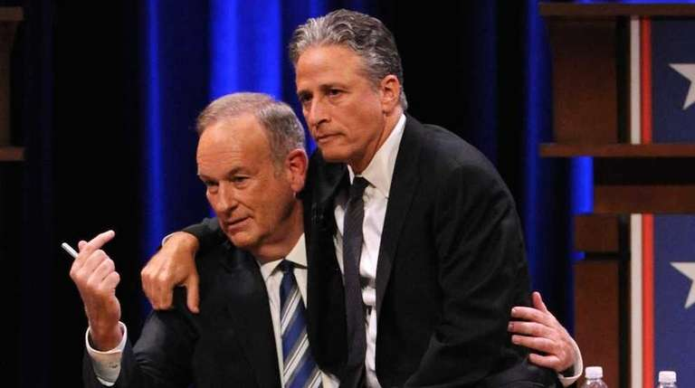 Bill O'Reilly and Jon Stewart at