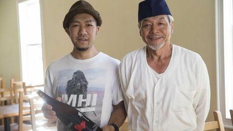 Yuki Mori, owner, left, and Akio Kon, sushi