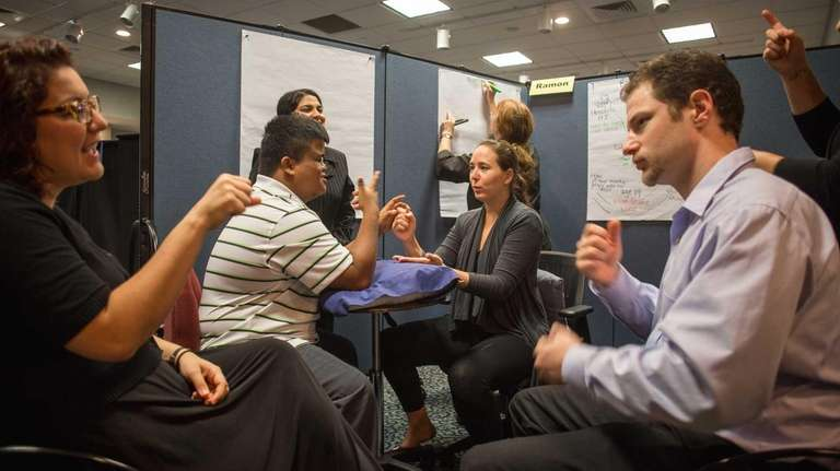 Young people who are deaf and blind plan careers at LI program Newsday