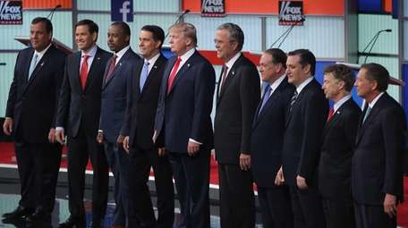 Left to right, Republican presidential candidates New Jersey