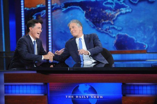 Stephen Colbert and Jon Stewart visit