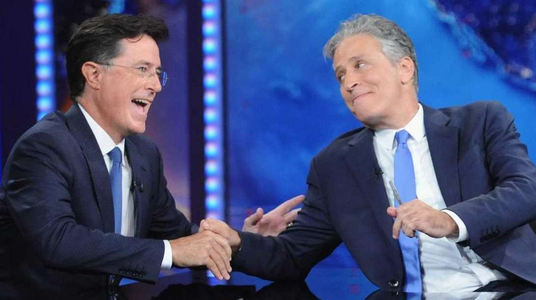 Stephen Colbert and Jon Stewart visit