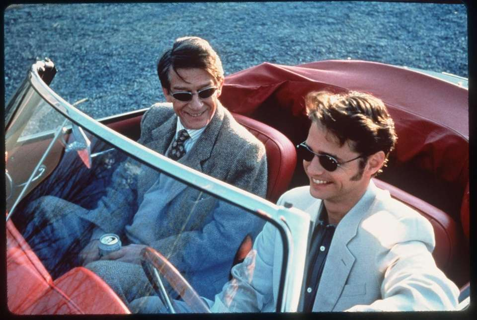 John Hurt and Jason Priestly in the film